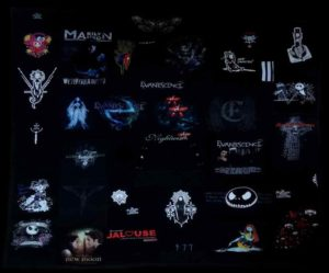 Plaid personnalisé Evanescence, Marilyn Manson...