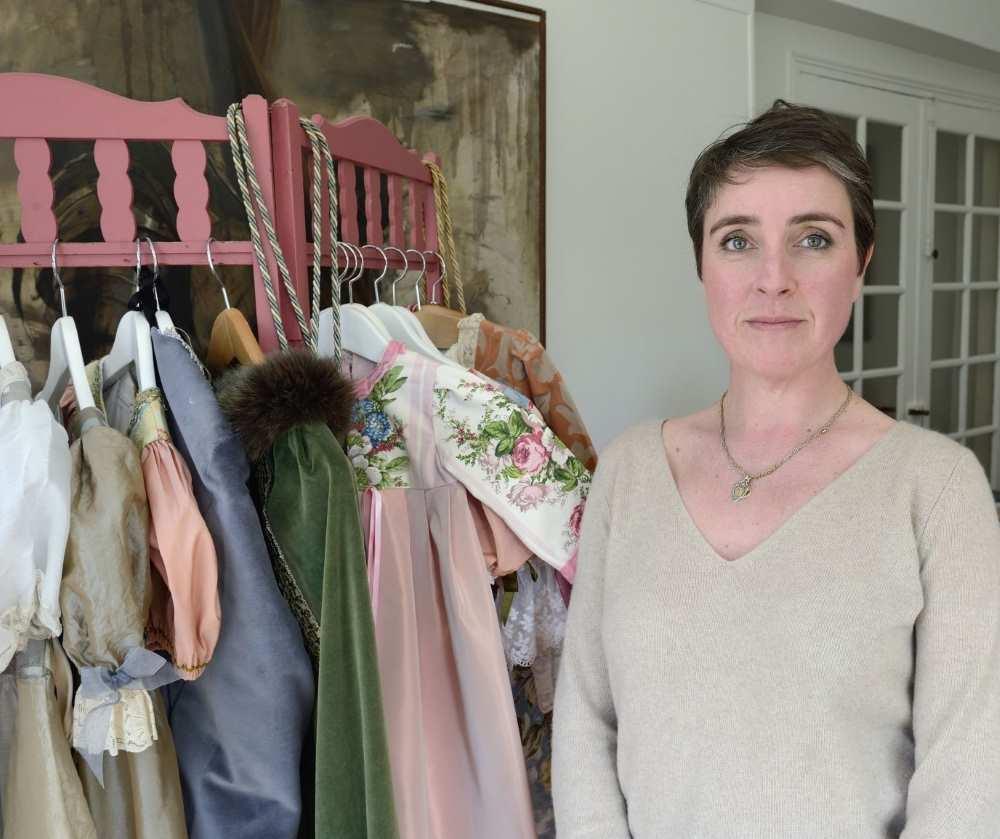 Jane Tizon et ses créations, des déguisements pour petits et grands. Chez Repatchit, JEMA 2017. Photo : twelve-photography.fr