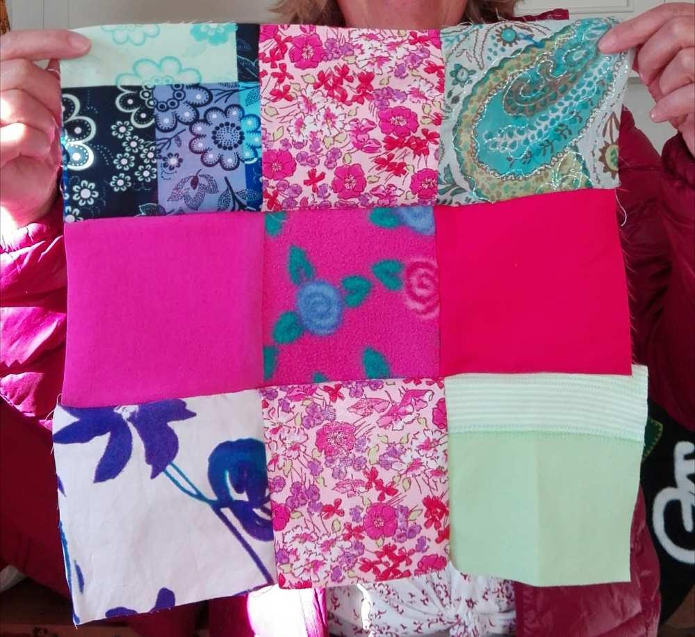 Pour le patchwork, chez Repatchit, on mélange les textures - polaire, coton, jersey, velours...