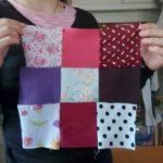 JEMA 2017 chez Repatchit, les visiteurs tentent de créer leur patchwork
