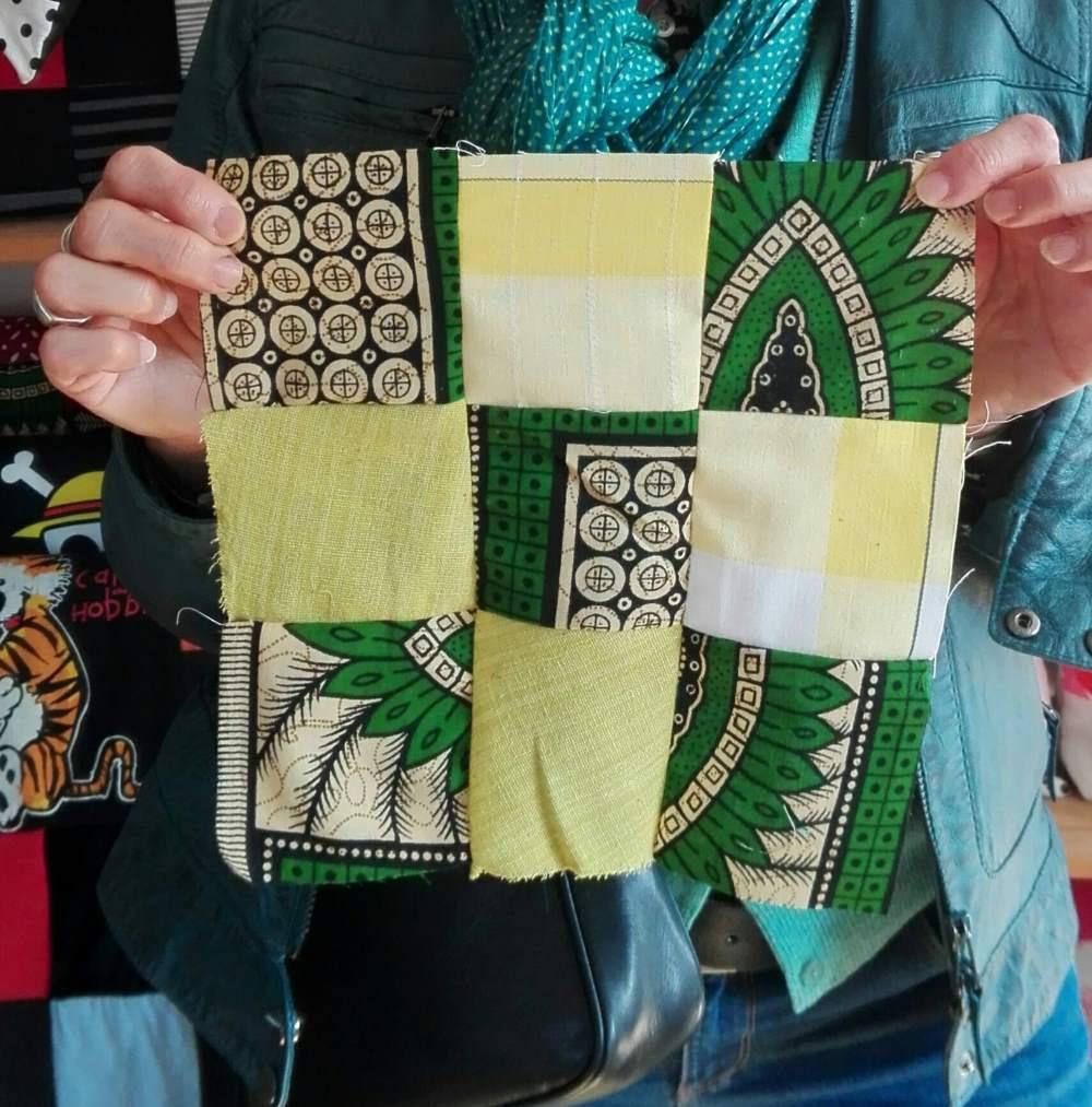 Tissus africains utilisés pour un patchwork, chez Repatchit à JEMA 2017