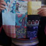 Chez Repatchit à JEMA 2017, patchwork créé par un visiteur