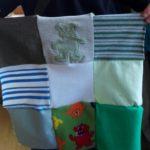 Pour ce patchwork, une sélection de nounours et des monstres sympas venant d'anciens pyjamas