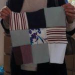 Quand on fait son premier design de patchwork, on tourne les tissus dans le sens que l'on veut !