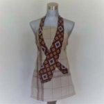 Tablier lin avec cravate retro année 70